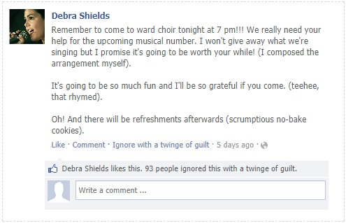 Debra Shield FB Post Ward Choir